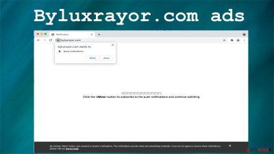 Byluxrayor.com ads