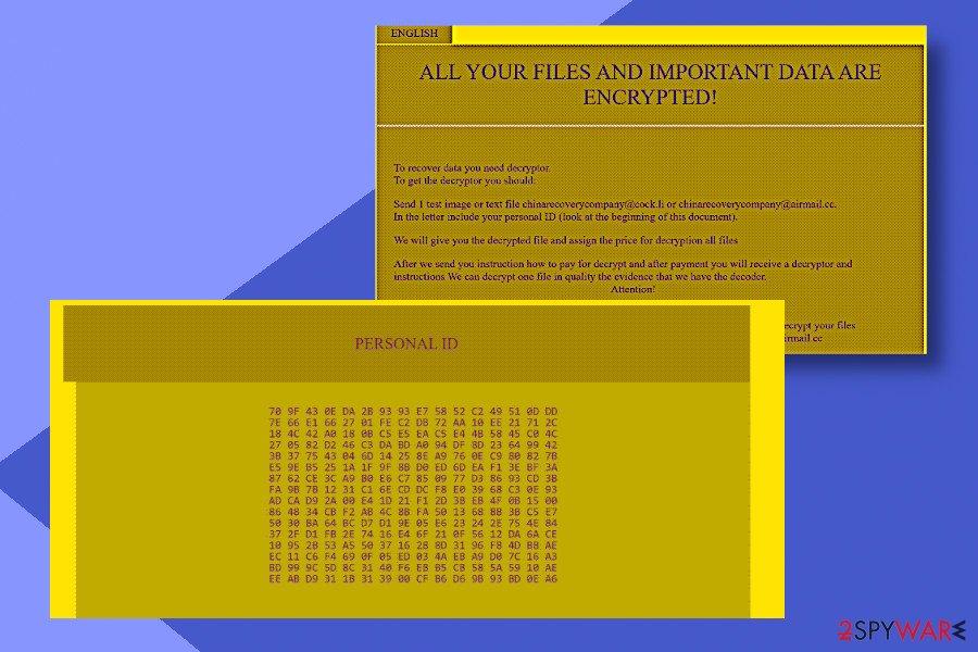 Globe Imposter C4H ransomware variant