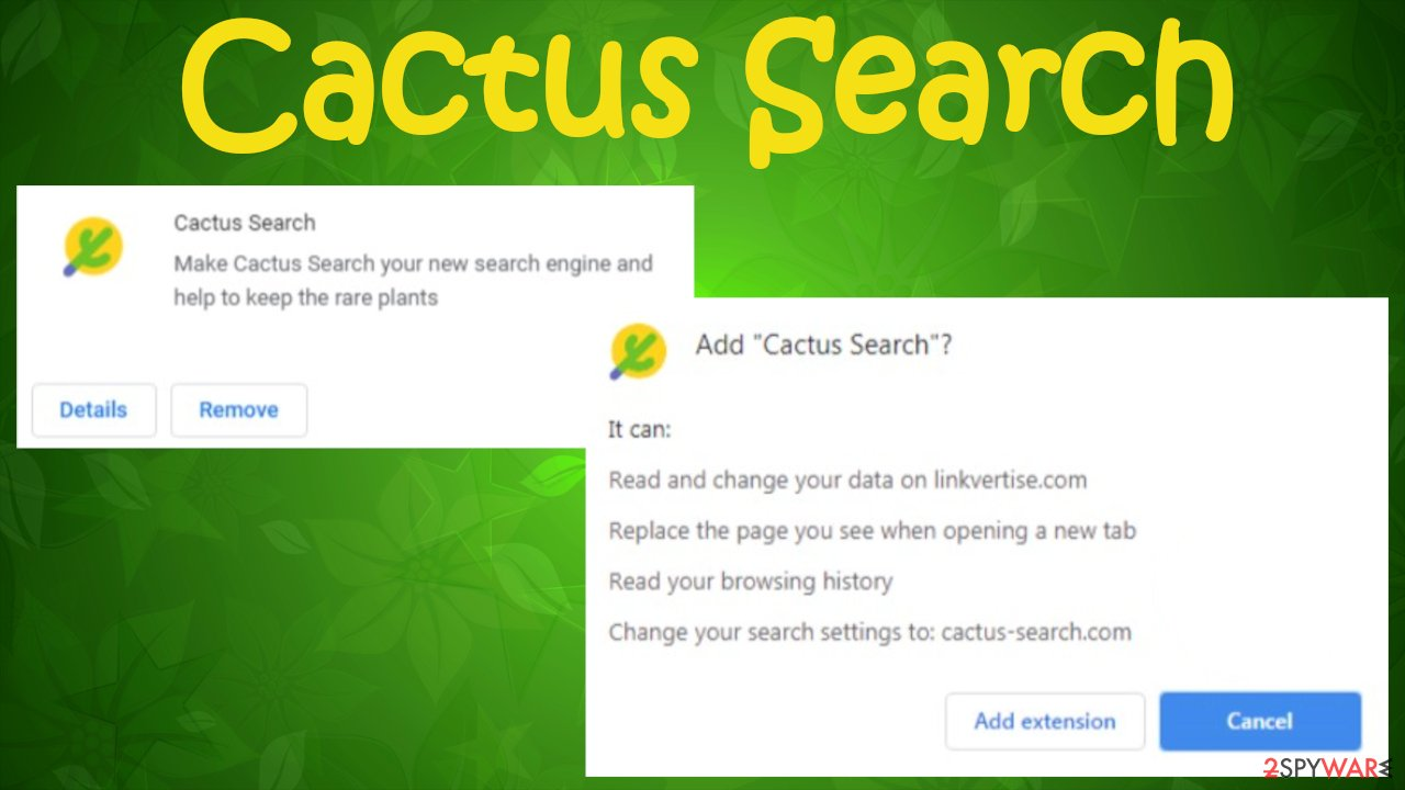 Cactus Search browser hijacker