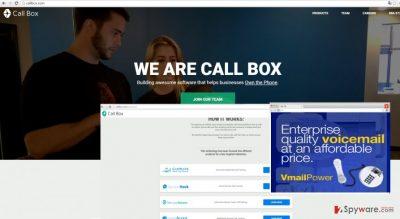 The image displaying Call Box ads