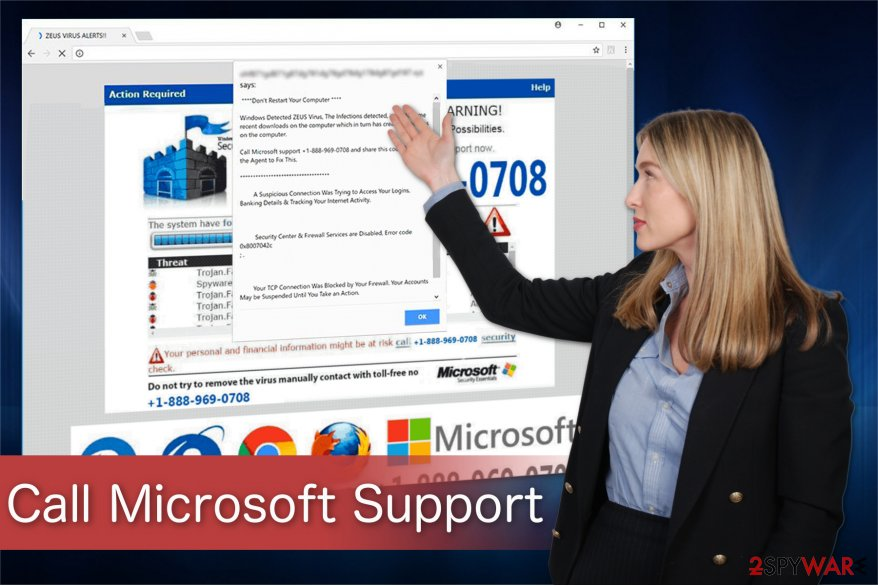 """Call Microsoft Support"" virus"