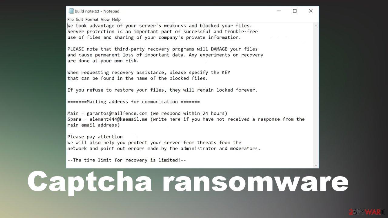 Captcha ransomware