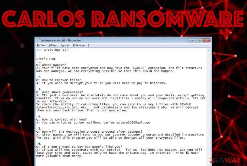 CARLOS ransomware virus