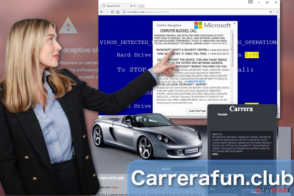Image of Carrerafun.club adware virus