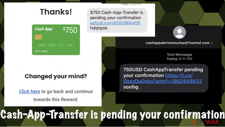 Cash-App-Transfer is pending your confirmation scam