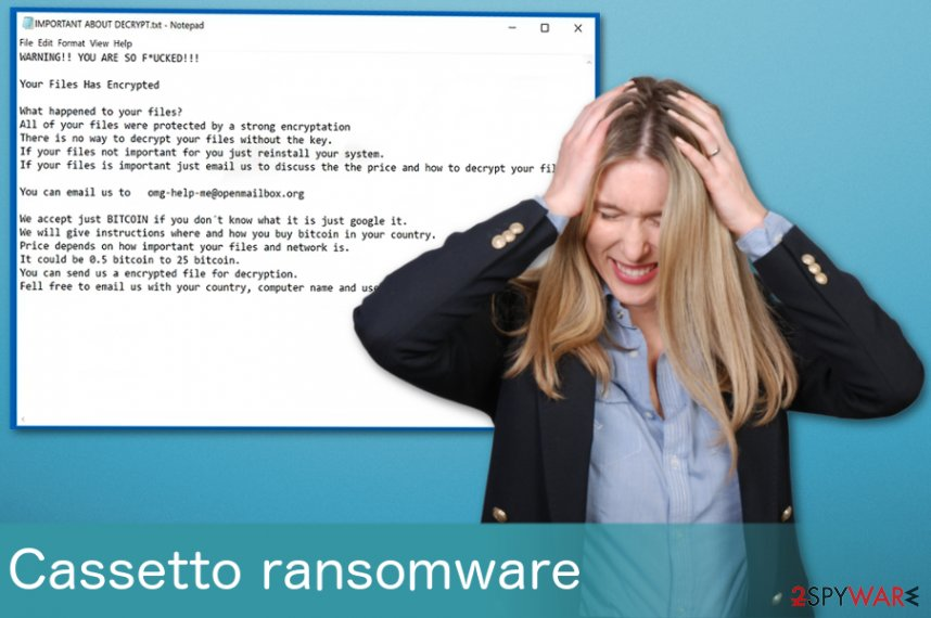 Cassetto ransomware virus