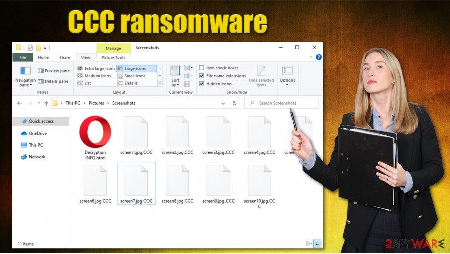 CCC ransomware virus