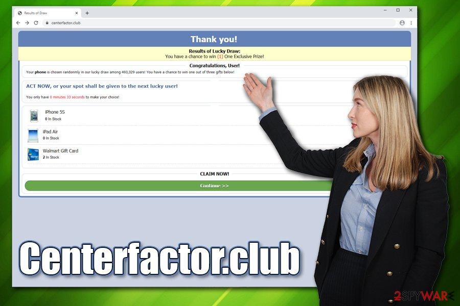Centerfactor.club adware