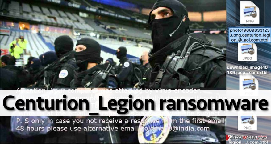 Centurion_Legion ransomware encrypts files and asks to pay up
