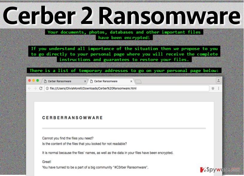 Cerber 2.0 ransomware virus
