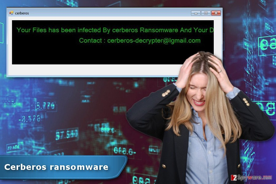 The image of Cerberos ransomware virus