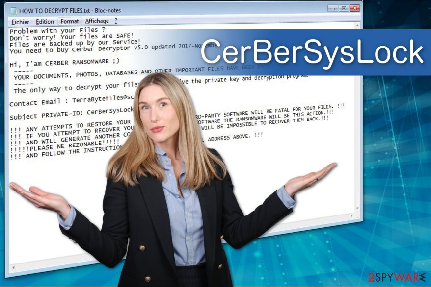 The illustration of CerBerSysLock ransomware