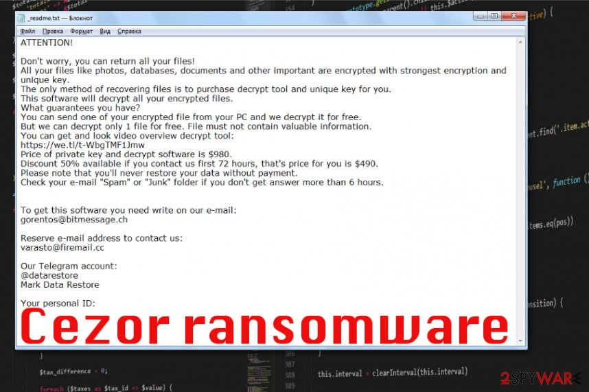 Cezor ransomware