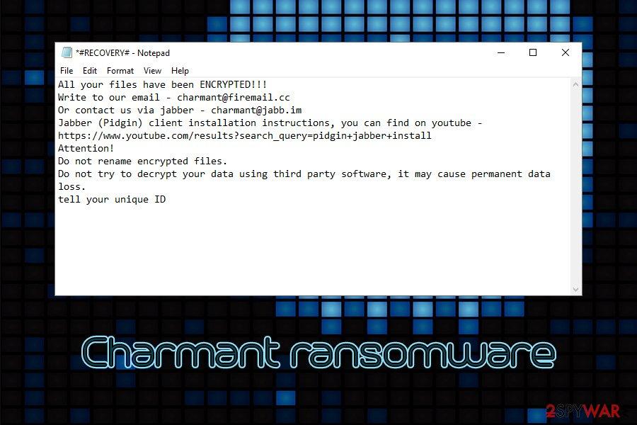 Charmant ransomware