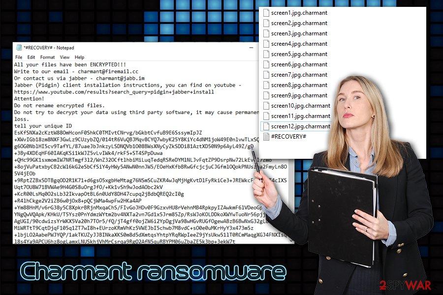 Charmant ransomware virus