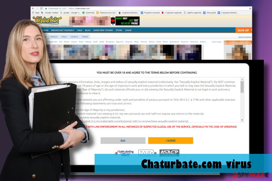 Showing Chaturbate.com virus