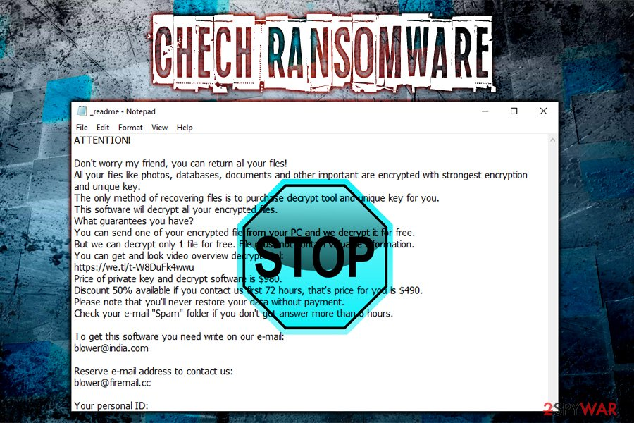 Chech ransomware