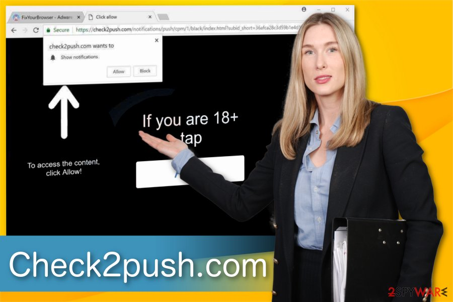 Check2push.com adware illustration
