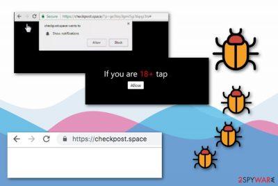 Checkpost.space adware
