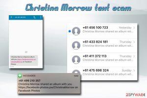 Christina Morrow text scam