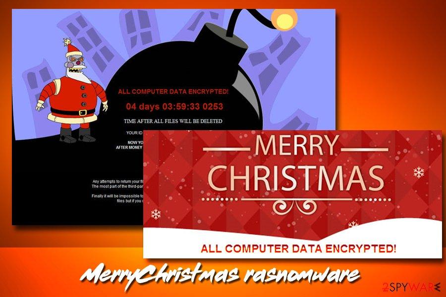 Christmas virus MerryChristmas ransomware
