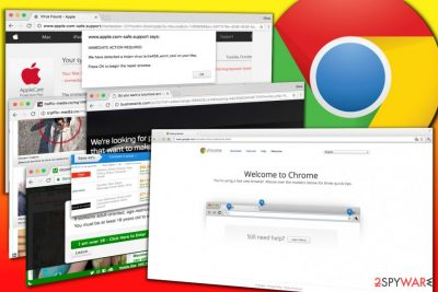Examples of ads displayed by Chrome adware