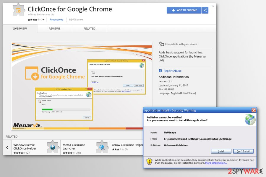 Chrome redirect virus might spread as ClickOnce