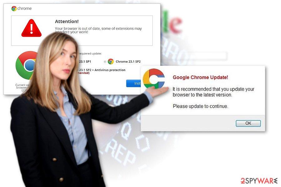 Chrome redirect virus sample