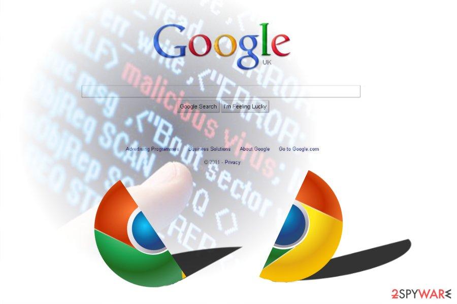 The image displaying Chrome virus