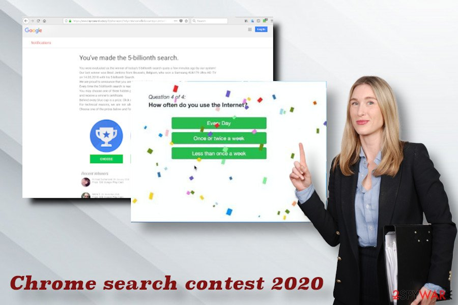Chrome search contest 2020 lottery scam