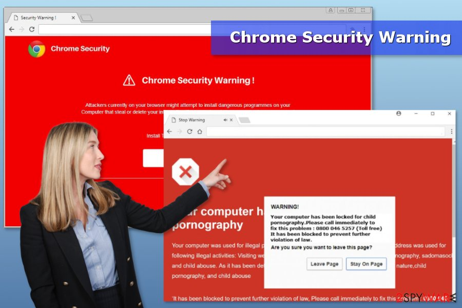 "Image of ""Chrome Security Warning"" virus"
