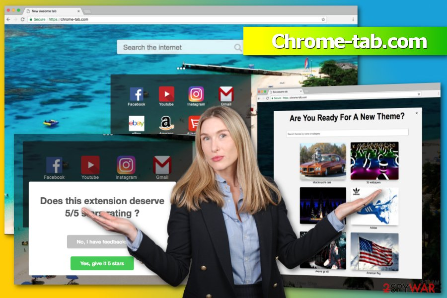 The picture of Chrome-tab.com virus