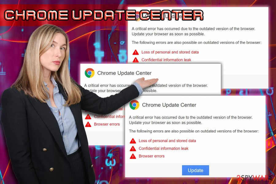 Chrome Update Center scam