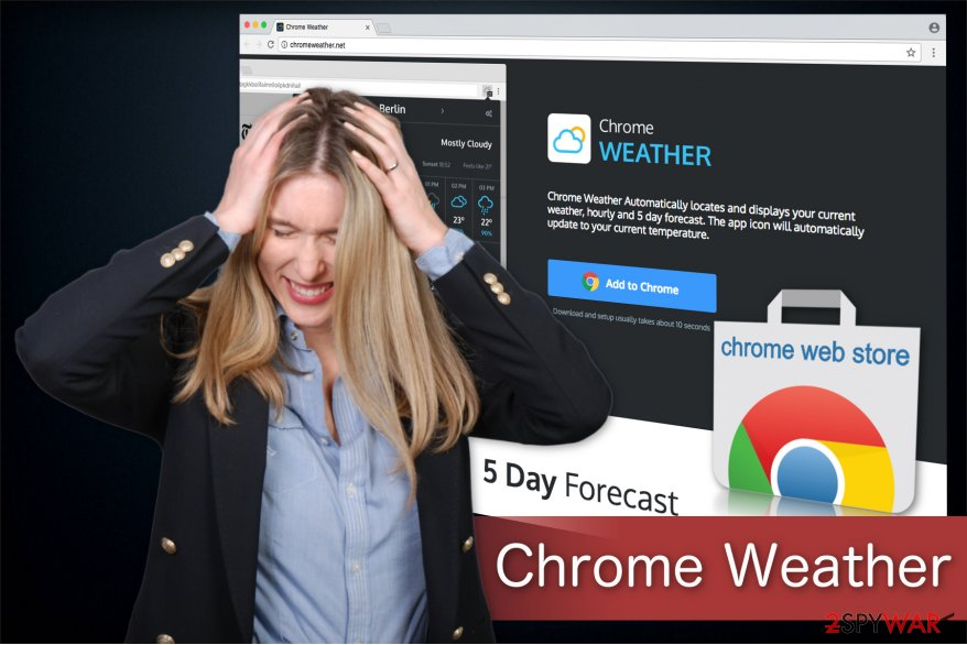 Chrome Weather illustration