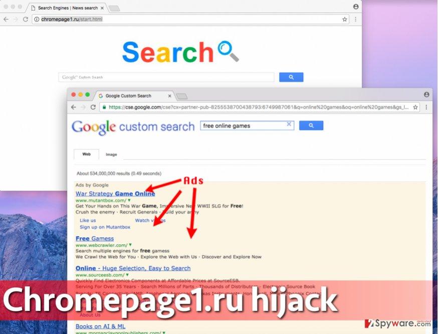 Chromepage1.ru redirect virus