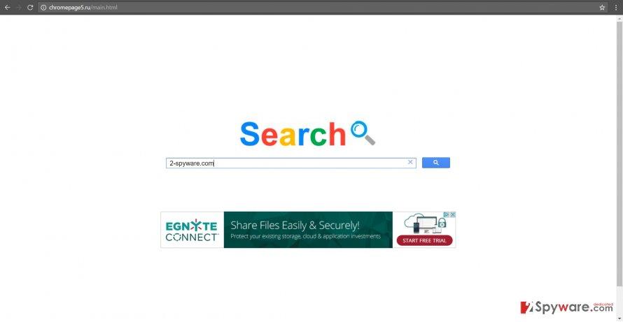 The screenshot of Chromepage5.ru