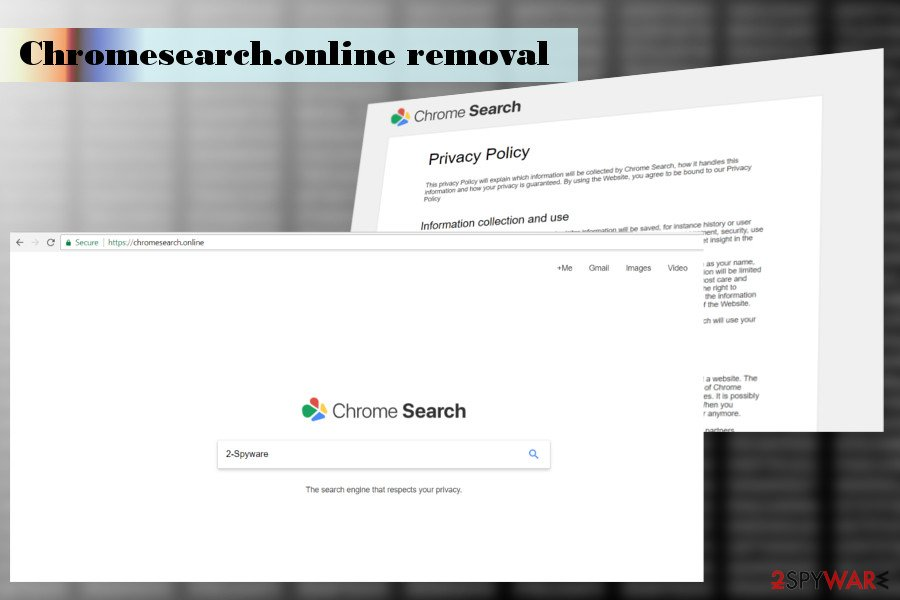 Illustration of the Chromesearch.online hijacker