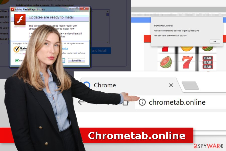 The picture of Chrometab.online virus
