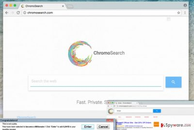Image showing ChromoSearch.com browser hijacker