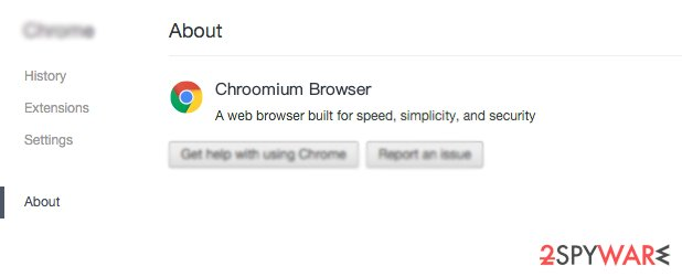 Chroomium Browser scam
