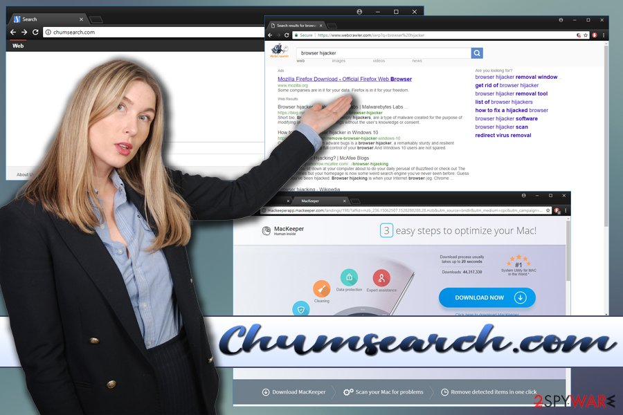 Chumsearch browser hijacker