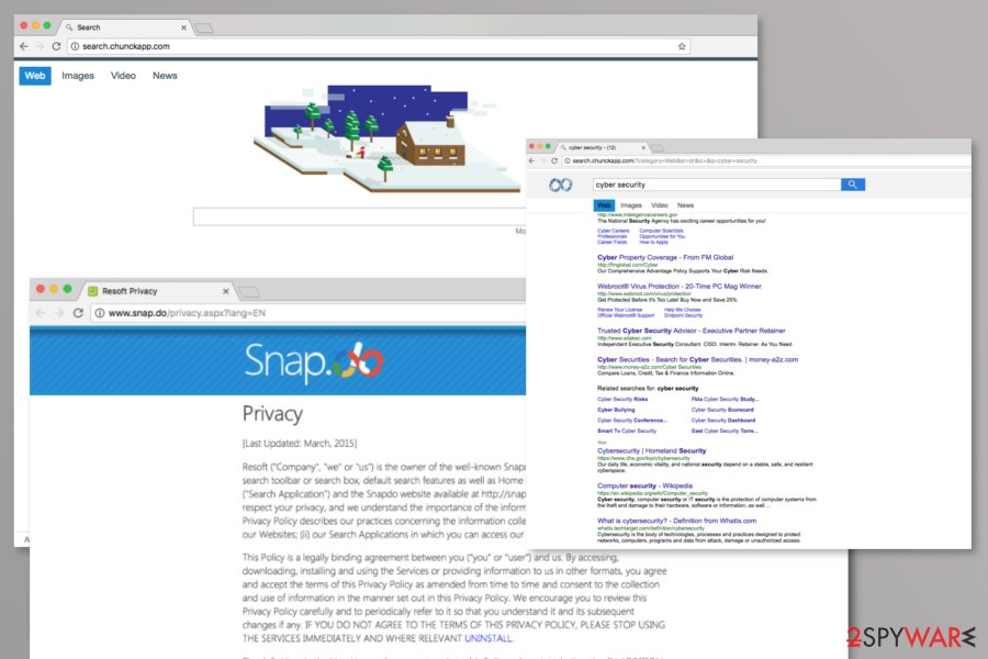 Chunkapp browser hijacker redirects to Snapdo