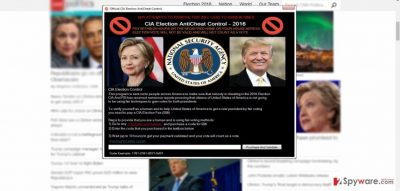 The image showing CIA Election AntiCheat Control virus
