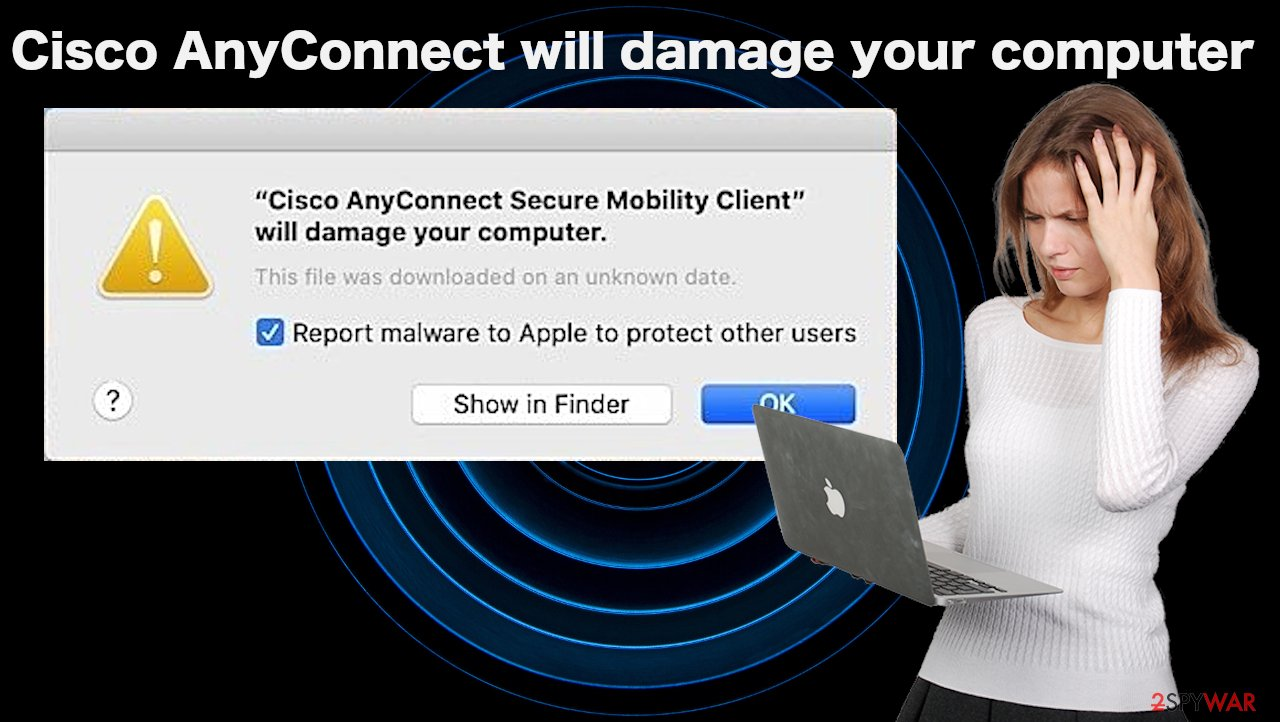 """""""Cisco AnyConnect Secure Mobility Client will damage your computer"""" spam"""