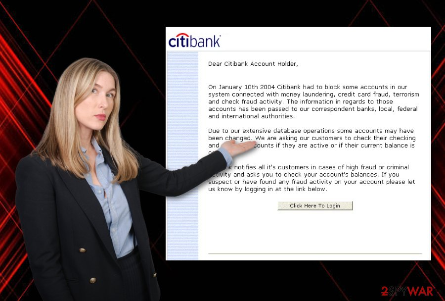 CitiBank email virus