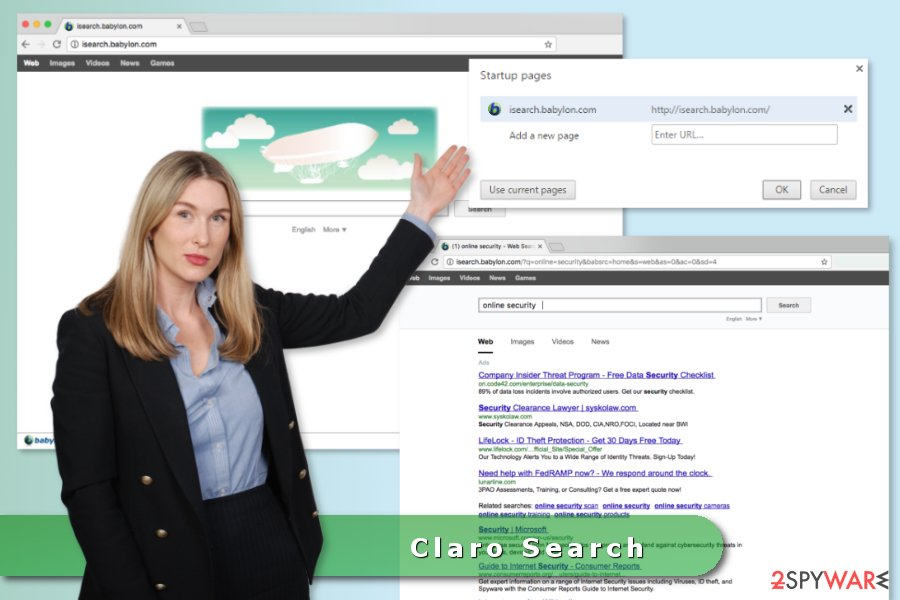 The picture of Claro Search browser hijacker