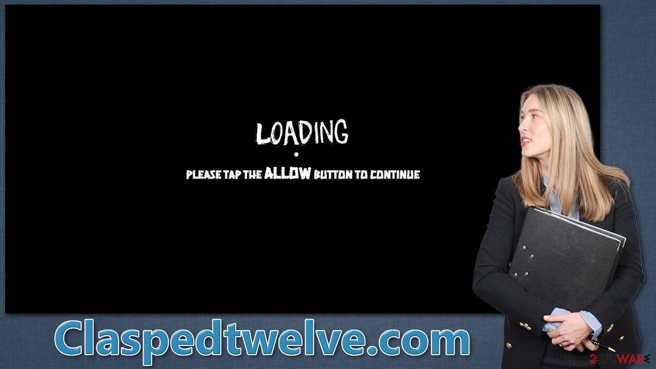 Claspedtwelve.com popups