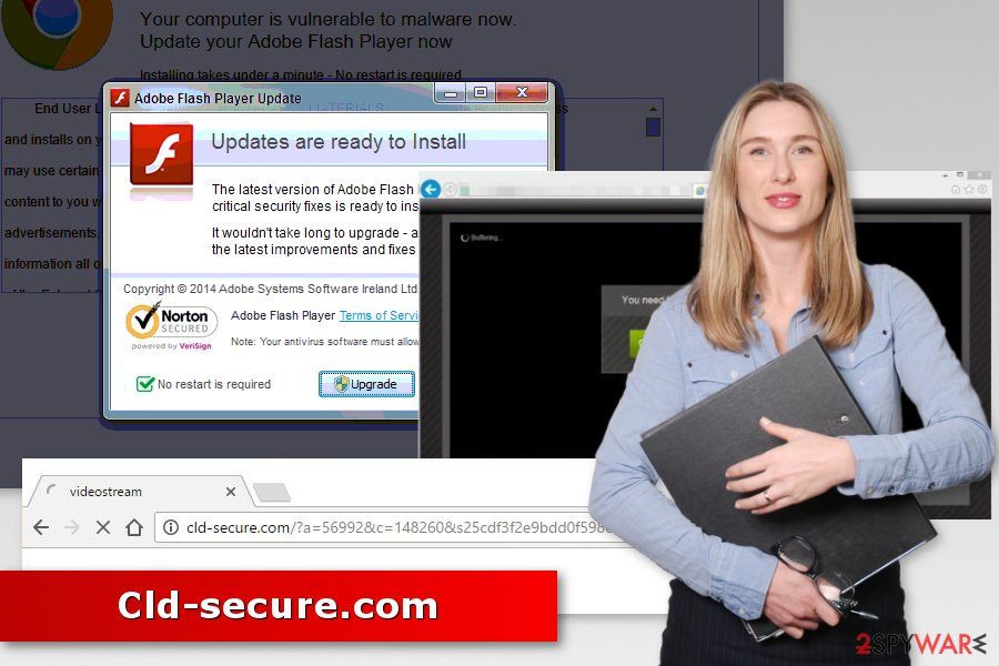 Image of Cld-secure.com redirect virus