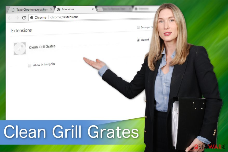 The illustration of Clean Grill Grates