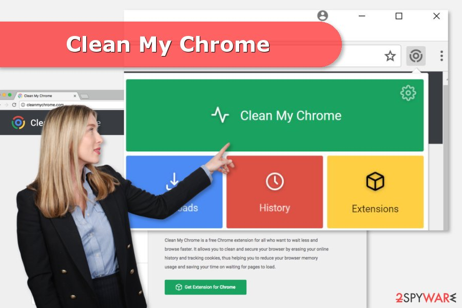 The image of Clean My Chrome virus